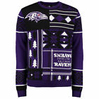 Baltimore Ravens Patches Ugly Christmas Sweater NFL Crew Neck NEW-2015 PICK SIZE $49.95 USD on eBay