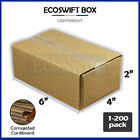 "1-200 6x4x2 ""EcoSwift"" Cardboard Packing Mailing Shipping Corrugated Box Cartons"