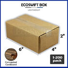 1-200 6x4x2 'EcoSwift' Cardboard Packing Mailing Shipping Corrugated Box Cartons