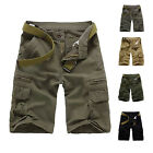 Men Cargo Pants Shorts Trousers Casual Military CAMO Combat Army Without Belt