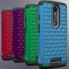 For Motorola Droid Turbo 2 / X Force / Bounce Case - Diamond Bling Tough Cover