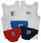 Boys Paw Patrol 3 Pants Briefs and 2 Vests Set 100% Cotton 18-24M Up to 4-5Y