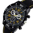 Geneva Mens Wacthes Digital Dial Silicone Band Analog Quartz Wrist Watch Watches