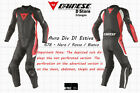 NEW DAINESE AVRO DIV D1 ESTIVA 2-PC MENS SUIT BLACK RED WHITE EU 52 US 42
