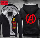 Mens Winter Thick The Avengers Hooded Sweatshirt Sweater Sweats Hoodies Cos Coat