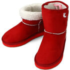 New Trend Red Womens Short Winter Snow Warm Boots