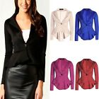 LADIES SMART FITTED BLAZER WOMENS COAT SUIT JACKET CASUAL OFFICE TOP OUTWEAR