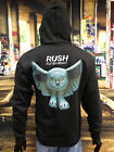 RUSH Official Merchandise Uni-Sex Zipped Hooded Top FLY BY NIGHT NEW
