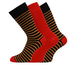Mens Supersoft Comfy Bamboo Rich Socks In Plain And Striped Design 3 Pair Pack
