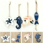 Wooden Fish Star Dolphin Hanging Nautical Decor Boat Ship Beach Wall Ornament