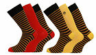 Mens Supersoft Comfy Bamboo Rich Socks In Plain And Striped Design 6 Pair Pack