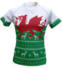 Olorun Welsh / Wales Christmas Novelty Rugby Shirt (S-7XL)