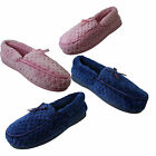 Jyoti Ladies Womens Pink Blue Soft Terry  Towelling Moccasin Full Slippers