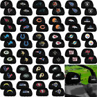 NFL Football All Team Logo Black w/Logo Head Rest Covers Universal Car Truck Suv
