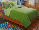 3 pc - Circo REVERSIBLE QUILT & SHAM - Queen or Full - GREEN  *NEW*