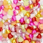 50/400pcs Resin Assorted Pearl Heart Bead Flatback DIY Embellish Craft Scrapbook