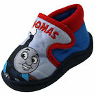 Boys Thomas The Tank Engine Comic Front Velcro  Slippers Boots Sizes 5 - 10