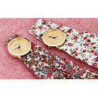 Fashion Women Floral Allover Geneva Cloth Scarf Band Analog Quartz Wrist Watch