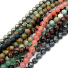 """Natural Gemstone Round Spacer Loose Beads 4mm 6mm 8mm 10mm 15"""" - 16"""" Pick Stone"""