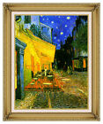 Cafe Terrace at Night by Vincent van Gogh Framed Art Print Painting Reproduction