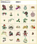 XMAS 1. CD machine embroidery designs files  most formats Christmas holidays
