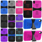 For Alcatel ONETOUCH Idol 3 Hard Gel Rubber KICKSTAND Case Phone Cover Accessory