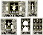 US ARMY STRONG GRAY CAMO LIGHT SWITCH COVER PLATE #1  U PICK  PLATE SIZE