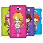 HEAD CASE DESIGNS COOL GIRLS HARD BACK CASE FOR SONY PHONES 4