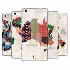 HEAD CASE DESIGNS PATTERNED MAPS HARD BACK CASE FOR HUAWEI PHONES 1