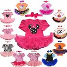 Baby Girls Clothes Dress Infant Party Outfits Tutus Newborn Romper+Headband 2PCS