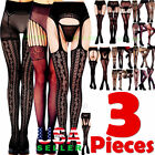 Внешний вид - 3 Pairs Fashion Women Stockings Socks Tights Pattern Sheer Pantyhose Plus Size