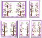 PURPLE OWL FAMILY IN TREE NURSERY LIGHT SWITCH COVER PLATE U PICK PLATE SIZE