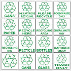 Recycle,Cans,Bottles,Glass,Paper,Waste Bin,Plastic,Logo-External Stickers,Signs