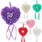 Romantic Rose Flowers Wedding Favors Heart Shaped Ring Box Pillow Cushion Decor