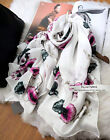 NWT Alexande Mcqueen MCQ Morning Glory Skull Pattern Pure Silk Scarf 2016 New