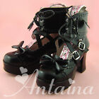 New Lolita tea party badydoll sweet bows laces Shoes 2002B-7.5 Custom made