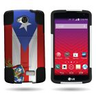 Protective Hybrid Phone Cover Case for LG Tribute / Transpyre / Optimus F60