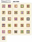 ALPHABET REN. CD or USB machine embroidery designs files ABC fonts  most formats