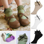 Vintage Lace Ruffle Frilly Ankle Socks Womens Girls Casual Sport Thin Short Sock