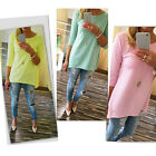 Fashion Women Loose Pullover T Shirt Ladies 3/4 Sleeve Cotton Tops Shirt Blouse
