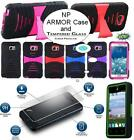 NP ARMOR Tempered REAL Glass Screen Protector and Case For SAMSUNG Phone Model