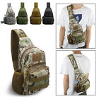 Men Outdoor Tactical Sling Chest Bag Assault Pack Messenger Shoulder Backpack US