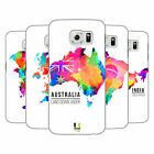 HEAD CASE DESIGNS WATERCOLOURED MAPS HARD BACK CASE FOR SAMSUNG PHONES 1