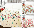 Large Coral Fleece Blanket Plush 140 x 180 Printed Warm Blanket Travel Throw