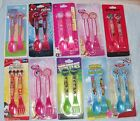 Children's Character Fork & Spoon Cutlery Set (minnie,monsters princess etc) New