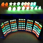 6pairs/lot New Fashion Charm Glow In The Dark (not LED Stud Earrings) for Women