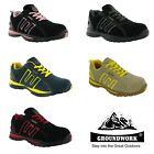 Womens Safety Trainers Groundwork Lightweight Steel Toe Cap Work Shoes UK3-8