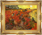 Framed The Red Vineyard Vincent van Gogh Painting Reproduction Canvas Art Print