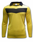 Ichnos teamwear team kit long sleeves soccer football futsal shirt yellow black