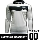 Ichnos teamwear team kit long sleeves soccer football futsal shirt white black